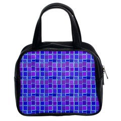 Background Mosaic Purple Blue Classic Handbags (2 Sides)