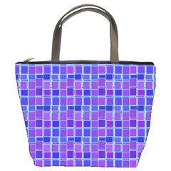 Background Mosaic Purple Blue Bucket Bags