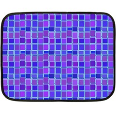 Background Mosaic Purple Blue Double Sided Fleece Blanket (Mini)