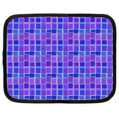 Background Mosaic Purple Blue Netbook Case (xxl)