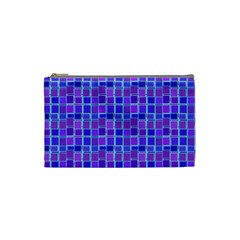 Background Mosaic Purple Blue Cosmetic Bag (Small)