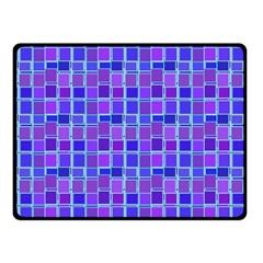 Background Mosaic Purple Blue Fleece Blanket (Small)