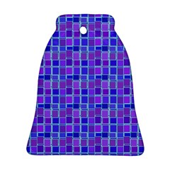 Background Mosaic Purple Blue Bell Ornament (Two Sides)