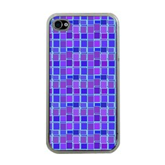 Background Mosaic Purple Blue Apple Iphone 4 Case (clear)