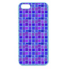 Background Mosaic Purple Blue Apple Seamless Iphone 5 Case (color)