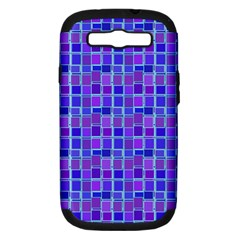 Background Mosaic Purple Blue Samsung Galaxy S III Hardshell Case (PC+Silicone)