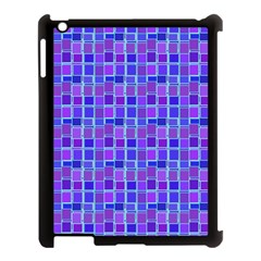 Background Mosaic Purple Blue Apple iPad 3/4 Case (Black)