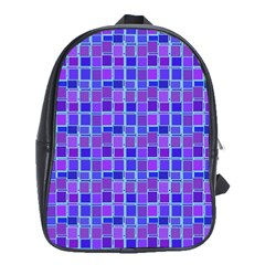 Background Mosaic Purple Blue School Bags (XL)