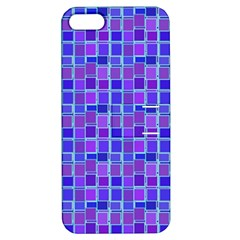 Background Mosaic Purple Blue Apple iPhone 5 Hardshell Case with Stand