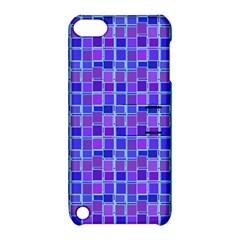 Background Mosaic Purple Blue Apple iPod Touch 5 Hardshell Case with Stand
