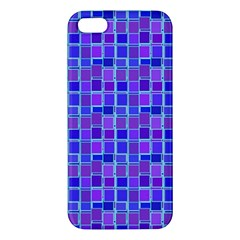 Background Mosaic Purple Blue Apple iPhone 5 Premium Hardshell Case