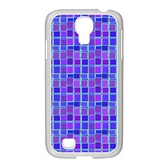 Background Mosaic Purple Blue Samsung Galaxy S4 I9500/ I9505 Case (white)