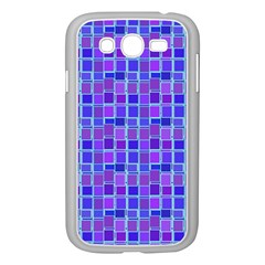 Background Mosaic Purple Blue Samsung Galaxy Grand Duos I9082 Case (white)
