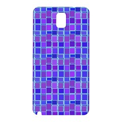 Background Mosaic Purple Blue Samsung Galaxy Note 3 N9005 Hardshell Back Case