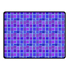 Background Mosaic Purple Blue Double Sided Fleece Blanket (Small)