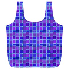 Background Mosaic Purple Blue Full Print Recycle Bags (l)