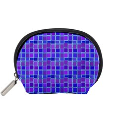 Background Mosaic Purple Blue Accessory Pouches (Small)