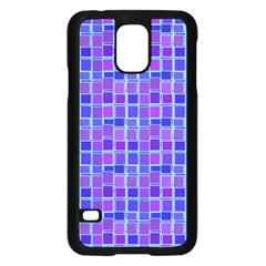 Background Mosaic Purple Blue Samsung Galaxy S5 Case (black)