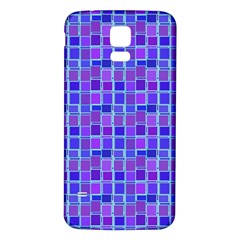 Background Mosaic Purple Blue Samsung Galaxy S5 Back Case (White)