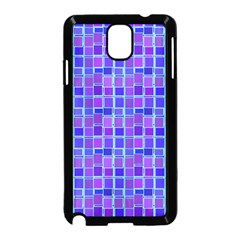 Background Mosaic Purple Blue Samsung Galaxy Note 3 Neo Hardshell Case (Black)