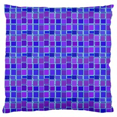 Background Mosaic Purple Blue Large Flano Cushion Case (two Sides)