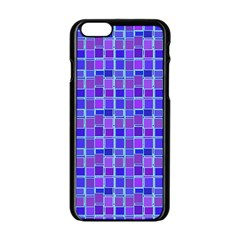 Background Mosaic Purple Blue Apple Iphone 6/6s Black Enamel Case