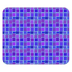 Background Mosaic Purple Blue Double Sided Flano Blanket (small)