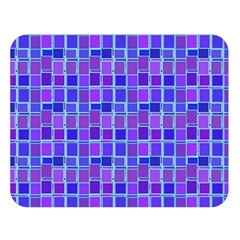 Background Mosaic Purple Blue Double Sided Flano Blanket (large)