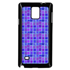 Background Mosaic Purple Blue Samsung Galaxy Note 4 Case (black)