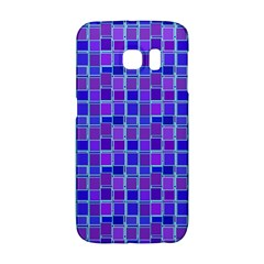 Background Mosaic Purple Blue Galaxy S6 Edge