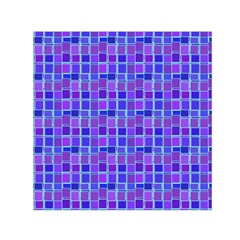 Background Mosaic Purple Blue Small Satin Scarf (square)