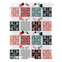 Mint Black Coral Heart Paisley Apple Ipad 3/4 Hardshell Case (compatible With Smart Cover)
