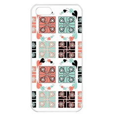 Mint Black Coral Heart Paisley Apple iPhone 5 Seamless Case (White)