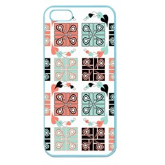 Mint Black Coral Heart Paisley Apple Seamless iPhone 5 Case (Color)