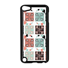 Mint Black Coral Heart Paisley Apple iPod Touch 5 Case (Black)