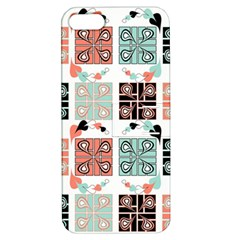 Mint Black Coral Heart Paisley Apple Iphone 5 Hardshell Case With Stand