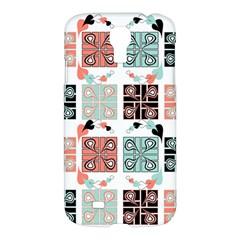 Mint Black Coral Heart Paisley Samsung Galaxy S4 I9500/i9505 Hardshell Case