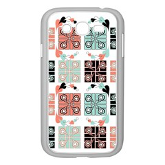 Mint Black Coral Heart Paisley Samsung Galaxy Grand Duos I9082 Case (white)