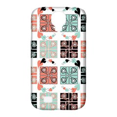 Mint Black Coral Heart Paisley Samsung Galaxy S4 Classic Hardshell Case (pc+silicone)