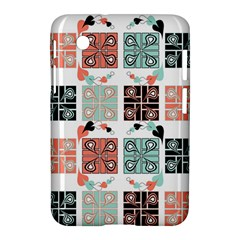 Mint Black Coral Heart Paisley Samsung Galaxy Tab 2 (7 ) P3100 Hardshell Case