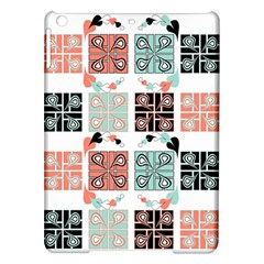 Mint Black Coral Heart Paisley Ipad Air Hardshell Cases
