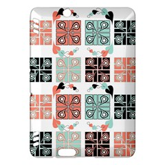 Mint Black Coral Heart Paisley Kindle Fire Hdx Hardshell Case