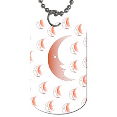 Moon Moonface Pattern Outlines Dog Tag (Two Sides)