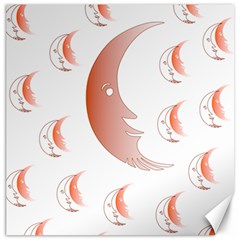 Moon Moonface Pattern Outlines Canvas 20  X 20