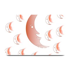 Moon Moonface Pattern Outlines Plate Mats