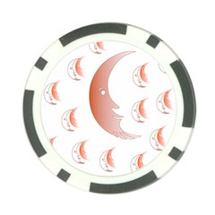 Moon Moonface Pattern Outlines Poker Chip Card Guard (10 pack)