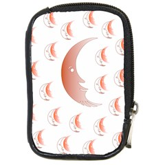 Moon Moonface Pattern Outlines Compact Camera Cases