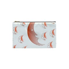 Moon Moonface Pattern Outlines Cosmetic Bag (Small)