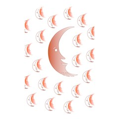 Moon Moonface Pattern Outlines Shower Curtain 48  X 72  (small)
