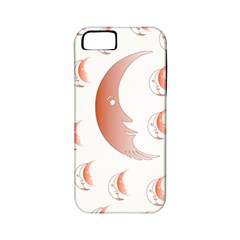Moon Moonface Pattern Outlines Apple Iphone 5 Classic Hardshell Case (pc+silicone)